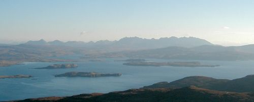 The Cuillins from Healabhal Beag