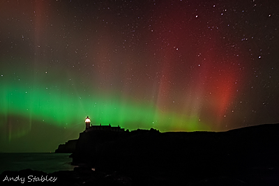 Aurora Borealis, Neist Point, Isle of Skye.