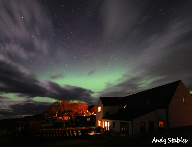 Aurora Borealis over Lephin Cottage. March 17th, 2013.