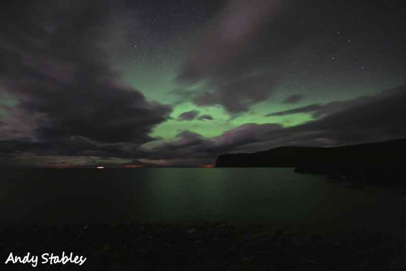 Aurora Borealis, Lower Milovaig. March 17th, 2013.